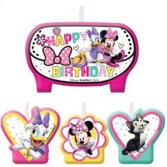 Minnie Mouse 1st Birthday Candles (Set of 4)