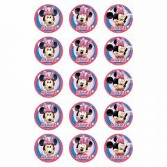 Minnie Mouse Edible Cupcake Decorations (Pack of 15)