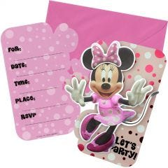 Minnie Mouse Forever Deluxe Invitation Set (Pack of 8)
