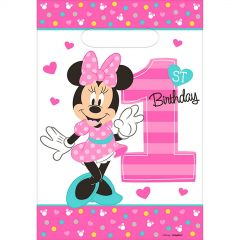 Minnie Mouse Fun To Be One Lolly/Treat Bags (Pack of 8)