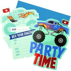 Monster Jam Party Invitations (Pack of 8)
