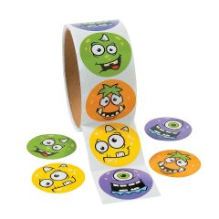 Monster Stickers (Roll of 100)