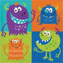 Fun Monsters Large Napkins / Serviettes (Pack of 16)