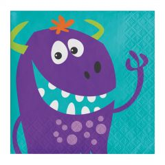 Fun Monsters Small Napkins / Serviettes (Pack of 16)