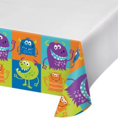 Fun Monsters Plastic Tablecloth