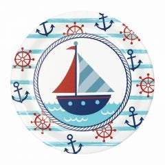 Nautical Adventure Small Paper Plates (Pack of 8)