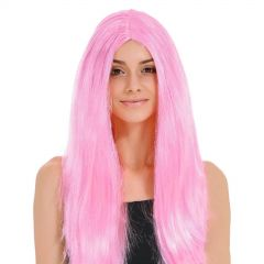 Adult Pink Long Wig