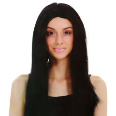 Lady of the Darkness Long Black Wig