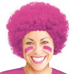 Hot Pink Curly Afro Wig