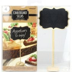 Wooden Chalkboard Table Sign