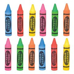 Crayon Shaped Erasers (Pack of 36)