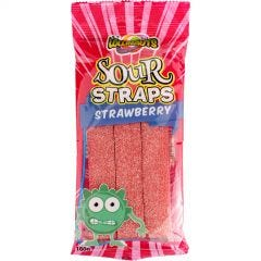 Strawberry Sour Straps (160g Pack)