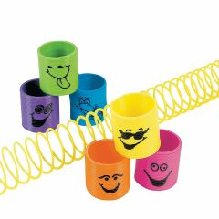 Colourful Mini Slinky Springs (Pack of 6)