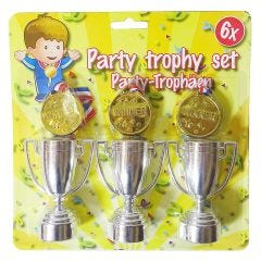 Trophy and Medal Set (6 Pieces)
