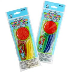Coloured Punch Ball Balloons (Pack of 2)