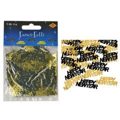 Black and Gold Happy New Year Confetti/Table Scatters