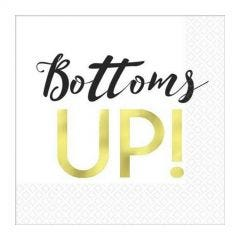 Bottoms Up Small Napkins / Serviettes (Pack of 16)
