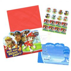 Paw Patrol Party Invitation Set (Pack of 8)