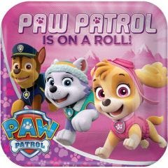 Paw Patrol Girl Large Paper Plates (Pack of 8)
