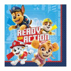 Paw Patrol Small Napkins / Serviettes (Pack of 16)