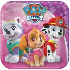 Paw Patrol Girl Small Paper Plates (Pack of 8)