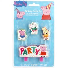 Peppa Pig Confetti Candles (Set of 4)