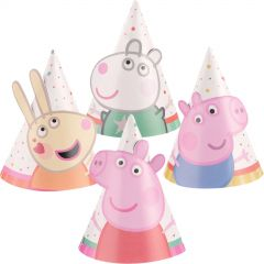 Peppa Pig Mini Party Hats (Pack of 8)