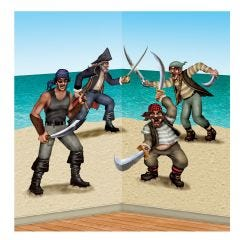 Dueling Pirate Scene Setter Wall Decorations