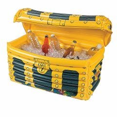 Inflatable Pirate Treasure Chest Cooler