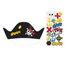 Ahoy Pirate DIY Party Hats (Pack of 8)