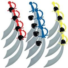 Pirate Sword and Eye Patch (Pack of 12)