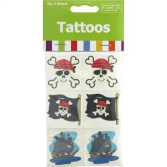 Pirate Tattoos (Pack of 36)