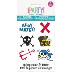 Ahoy Pirate Tattoos (Pack of 24)