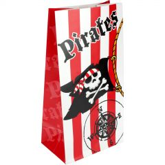 Pirate Paper Lolly/Treat Bags (Pack of 12)