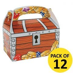 Pirate Chest Lolly/Treat Boxes (Pack of 12)