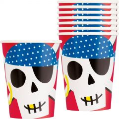 Ahoy Pirate Paper Cups (Pack of 8)