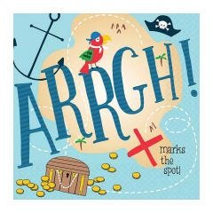 Ahoy Birthday Small Napkins / Serviettes (Pack of 36)