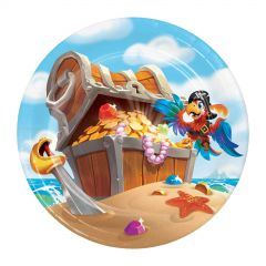 Pirate Treasure Small Paper Plates (Pack of 8)