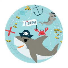 Ahoy Birthday Small Paper Plates (Pack of 18)