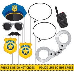 Police Party Photo Booth Props (Pack of 10)