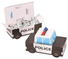 Police Car Treat Boxes (Pack of 12)