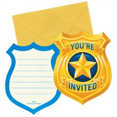 Police Party Invitations (Pack of 8)