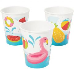 Summer Pool Party Paper Cups (Pack of 8)