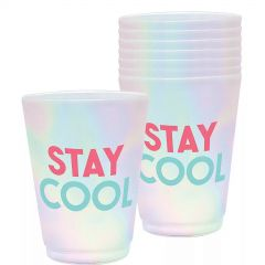 Stay Cool Plastic Cups (Pack of 8)