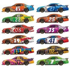 Racing Car Wall Props (Pack of 12)