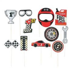 Racing Photo Booth Prop Set (Pack of 12)