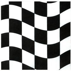 Black and White Checkered Large Napkins / Serviettes (Pack of 18)