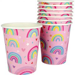 Rainbow Love Paper Cups (Pack of 8)