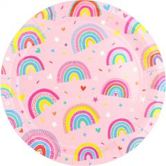 Rainbow Love Paper Plates (Pack of 8)