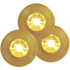 Solid Gold Plastic Records (Pack of 3)
